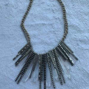 Statement layered necklace • edgy•